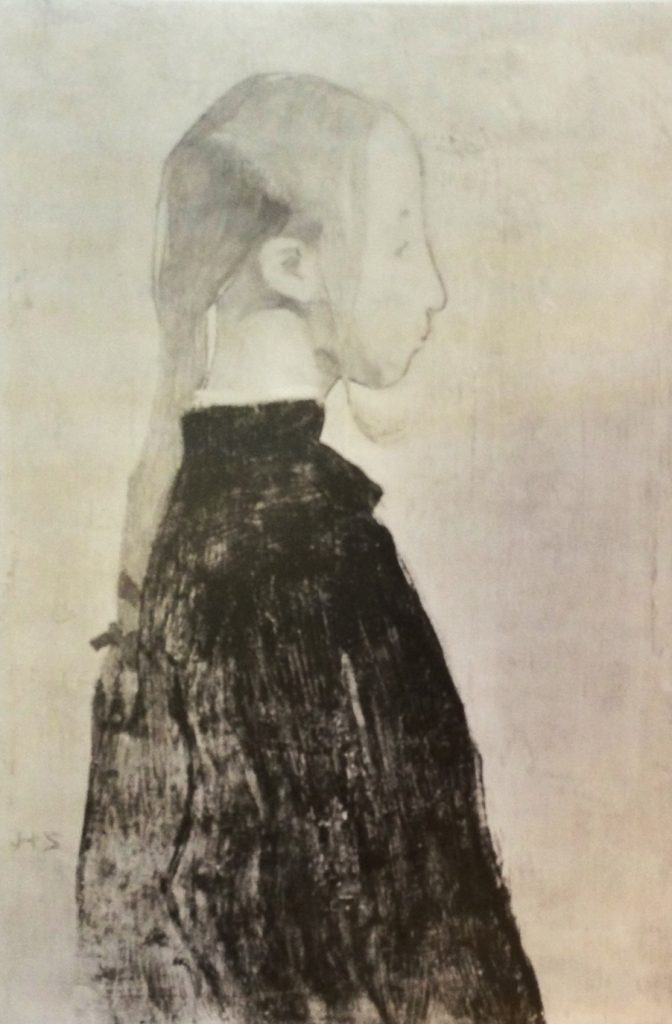 Flicka i svart, 1904
